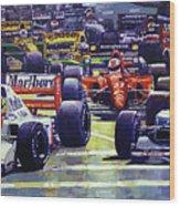 1992 Monaco Gp Start  Wood Print