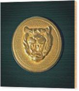 1994 Jaguar Xjs Emblem Wood Print