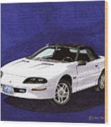 1995 Camaro Convertible Wood Print