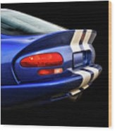 1995 Dodge Viper Coupe 'tail' Wood Print
