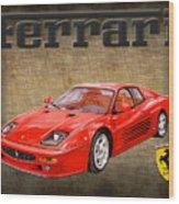 Ferrari F 512m 1995 Wood Print