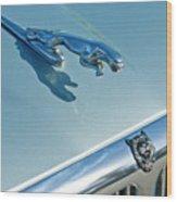 1995 Jaguar Xj6 Sedan Hood Ornament Wood Print by Jill Reger