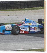 1997 Benetton B197 F1 At Road America Wood Print