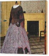 19th Century Plaid Dress Wood Print