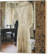 19th Century Wedding Dress Wood Print