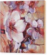 1almonds Blossom  13 Wood Print