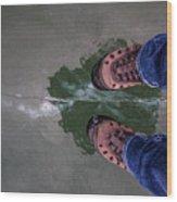 Standing On Thin Ice 2 Wood Print