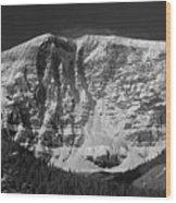 1m3769 Bw East Face Mt Kitchner Wood Print