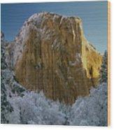 1m6576-winter On El Capitan In 1970 Wood Print