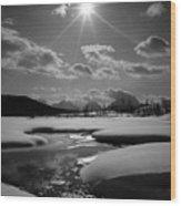 1m9203 Sunburst Over The Snake River, Tetons Wood Print