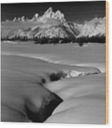1m9303 Bwtetons Seen From Jackson Hole Wood Print