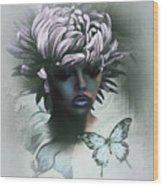 Sensual Beautiful Dahlia Wood Print