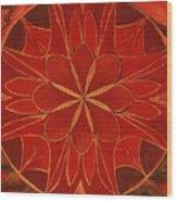 1st Mandala - Root Chakra Wood Print