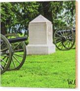 1st Mass Battery Gettysburg National Cemetery Wood Print