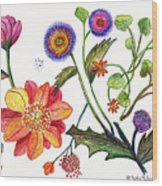 Botanical Flower-45 Odd Flowers Wood Print
