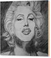 Marylin Monroe Wood Print