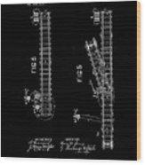 1875 Electric Railway Signal Patent Drawing Wood Print