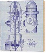 1903 Fire Hydrant Patent Wood Print