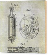 1913 Pocket Watch Patent Wood Print
