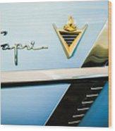 1953 Lincoln Capri Emblem Wood Print