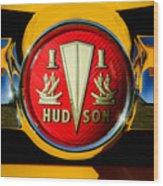 1954 Hudson Grille Emblem Wood Print