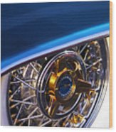 1957 Ford Thunderbird Wheel Wood Print