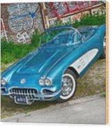 1959 Chevrolet Corvette Wood Print