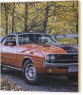 1970 Dodge Challenger Rt  Wood Print