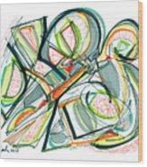 2010 Abstract Drawing Seventeen Wood Print