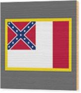 3d Confederate Flag Wood Print