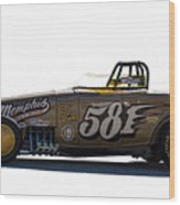 581 Bonneville Race Car Wood Print