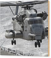 A Ch-53e Super Stallion Helicopter Wood Print