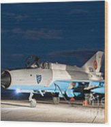 A Romanian Air Force Mig-21c Airplane Wood Print