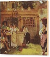 A Venetian Fan Seller Henry Woods Wood Print