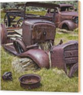 Abandoned Cars, Bodie Ghost Town Wood Print