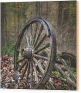 Abandoned Wagon Wood Print