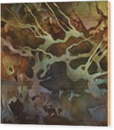 Abstract Design 87 Wood Print by Michael Lang