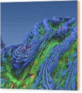 Abstract Fractal Landscape Wood Print