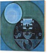 Abstract Painting - Lapis Lazuli Wood Print