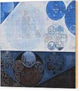 Abstract Painting - Lochmara Wood Print