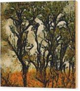 Abstract Tree Wood Print