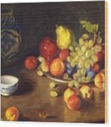 Abundance Of Fruit Wood Print