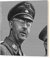 Adolf Hitler And Gestapo Head Heinrich Himmler Watching Parade Of Nazi Stormtroopers 1940-2015 Wood Print
