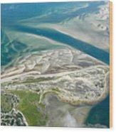 Aerial Vew Of Sandy Neck Beach In Barnstable On Cape Cod Massac Wood Print