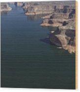 Aerial View Of Lake Powell Wood Print