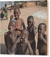 Africa's Children Wood Print