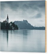After The Rain At Lake Bled Wood Print