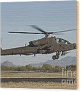 Ah-64d Apache Longbow Lifts Wood Print