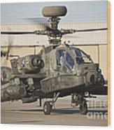 Ah-64d Apache Longbow Taxiing Wood Print