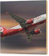 Air Berlin Airbus A319-112 Wood Print